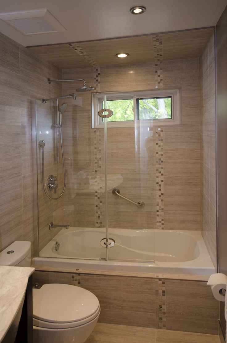 Tub Enclosure with Tub Shield  Bathroom Renovations Portfolio  Pinterest  Tub enclosures