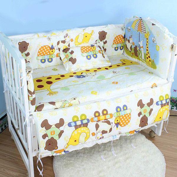 Hot Baby Cot Bedding Set Newborn Toddler Crib Kids Per Sets Backrest Mattress