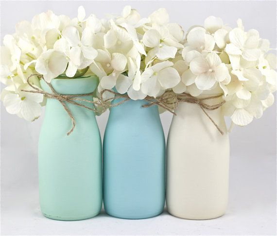 25+ best ideas about Blue centerpieces on Pinterest