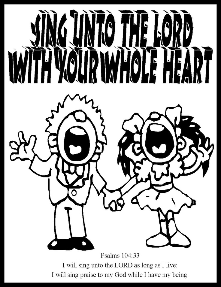 Choir Coloring Pages