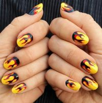 25+ best ideas about Flame Nail Art on Pinterest | Orange ...
