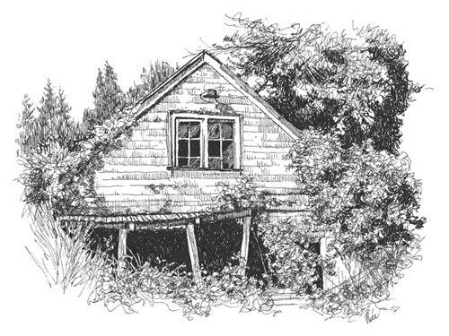 25 abandoned building landscape drawings pictures and ideas on pro rh prolandscape info