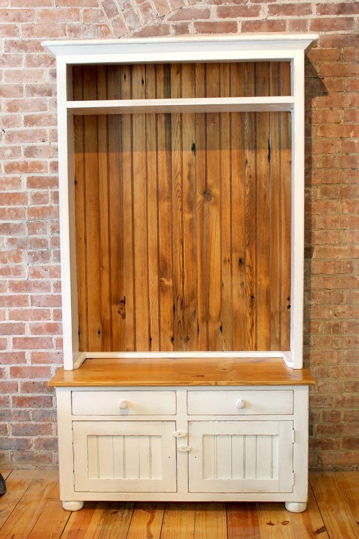 Old PIne Hallway coat rack with storage
