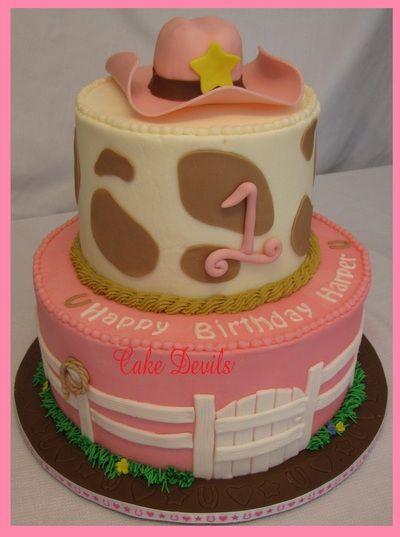 pink cowgirl cake