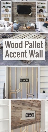 How to Create a Wood Pallet Accent Wall | Beautiful, Diy ...