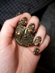 of 2017's steampunk nails