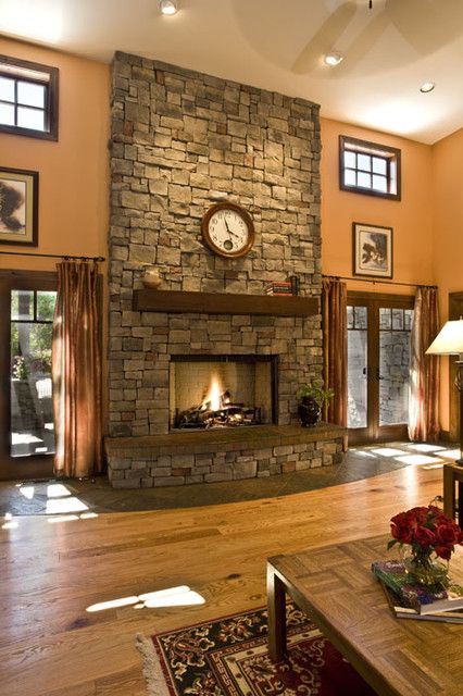 Reminds Me Of Home With Our Floor To Ceiling Fireplace And