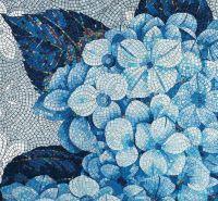 Blue Floral Mosaic Tile: Sicis | Mosaics | Pinterest ...