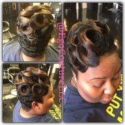 waves and pin curls updo stylez