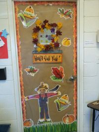 Fall classroom door with CTP's Autumn Harvest Decorator