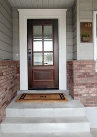 Best 25+ Exterior door trim ideas on Pinterest | Red front ...