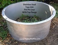 Amazon.com : Stainless Steel Fire Pit Ring -Liner Insert ...