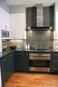 Contemporary Kitchen: Vertical tiles are a perfect accent ...