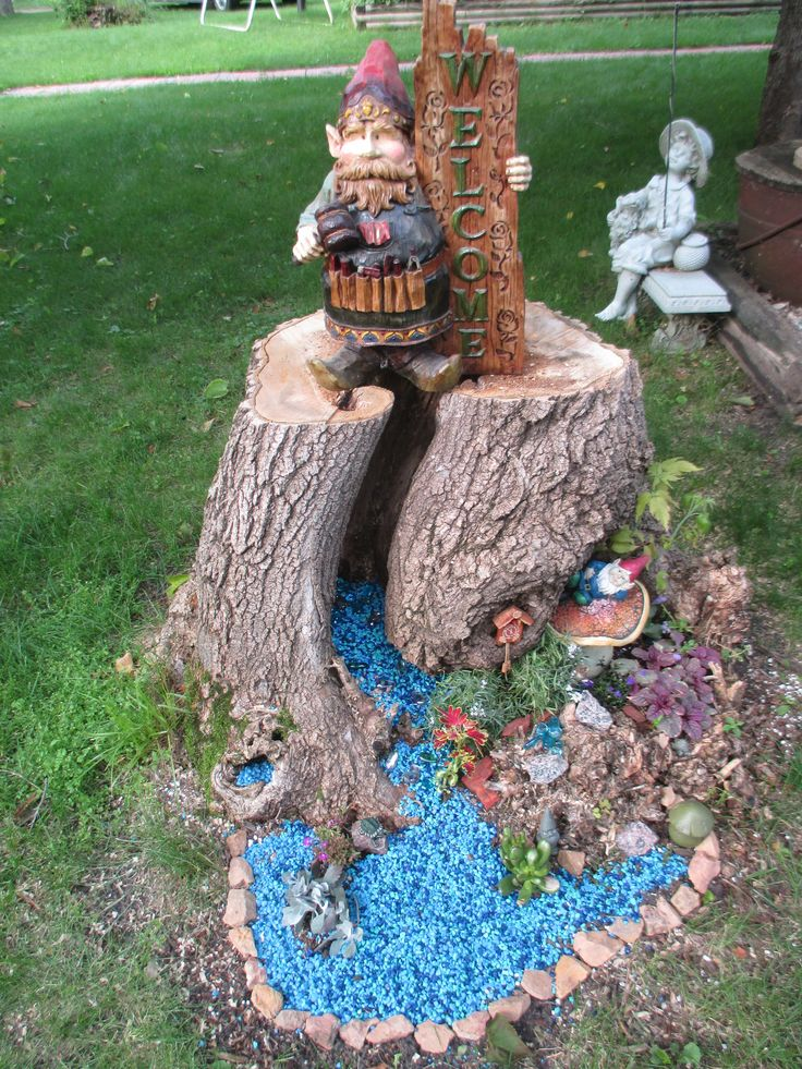 25 Best Ideas About Gnome Tree Stump House On Pinterest Gnome