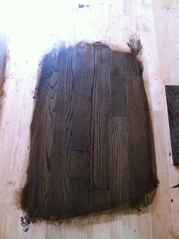 Dura Seal Example Coffee Brown 1 coat of water based