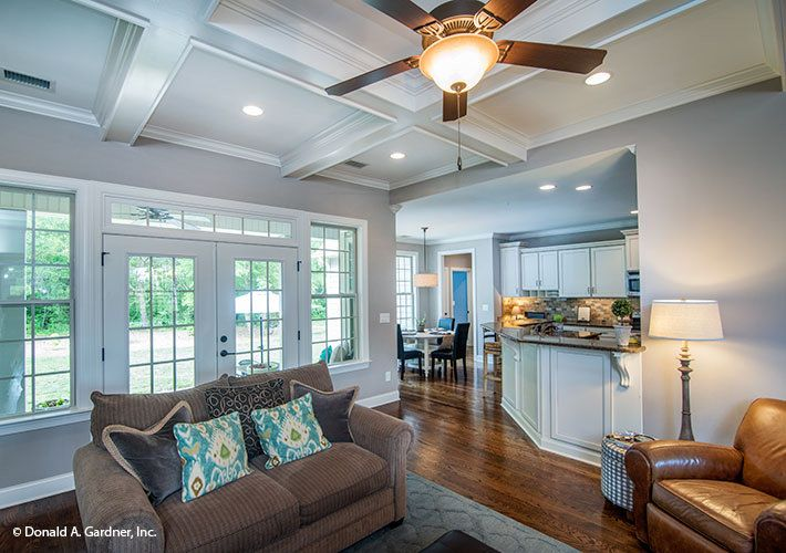 A Beautiful Tray Ceiling Tops This Great Room The
