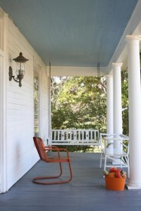 Both colors are standard Southern porch colors. The blue ...