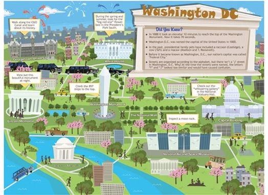 Image result for visitor map of washington dc