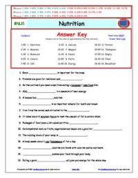 All Worksheets  Nutrition Worksheets