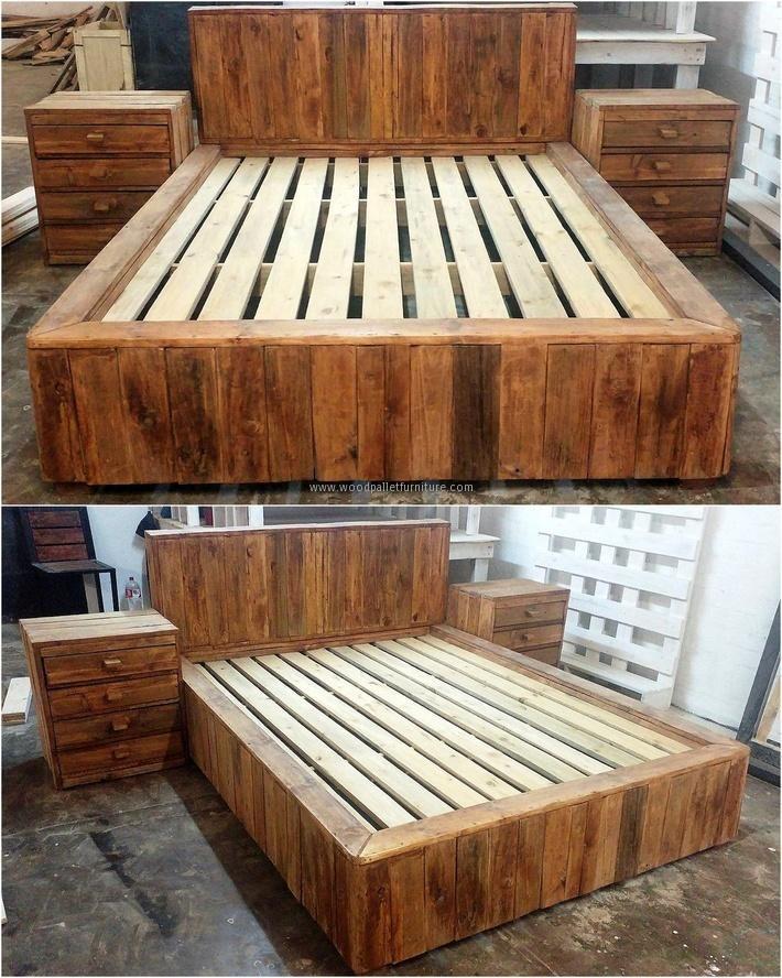 25 best ideas about Pallet bedroom furniture on Pinterest