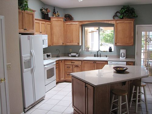 l shaped kitchen island with cabinets and design Kitchen Island with Seating in L Shaped Kitchen : L shaped Kitchen Design with Island Ideas from