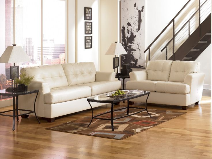 Durablend Ivory Sofa & Loveseat #sofa #loveseat