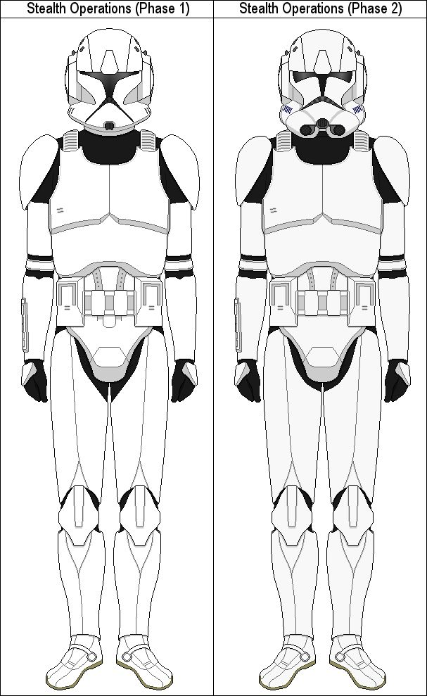 Stealth Operations Clone Trooper template by