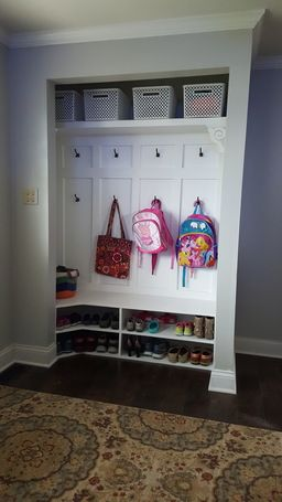 Closet turned into a minimudroom Such a clever project