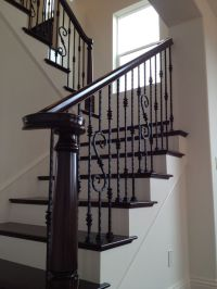 25+ best ideas about Wrought iron banister on Pinterest
