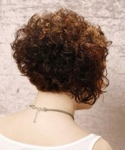 short stacked curly bob hairstyles