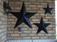 Set of 3 Large Metal Tin Barn Star Wall by ...