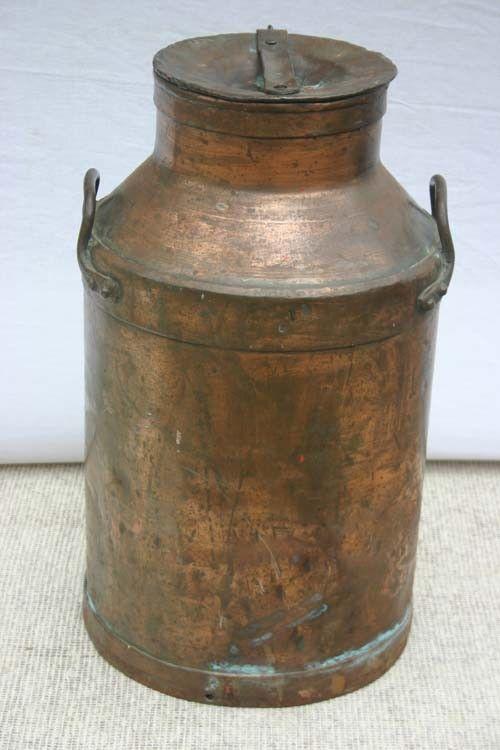 vintagemilkcans  337 antique copper milk can  24 12