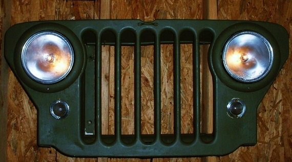 Vintage Willys Jeep Front Grill CJ2A Upcycled by
