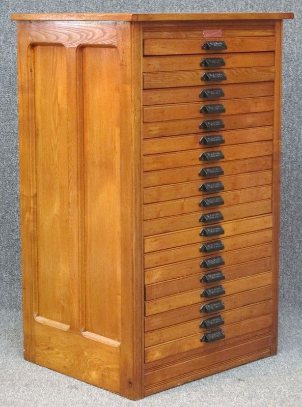 Watchmakers parts cabinet  Apothecary Cabinets