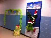 Grinch door decorating contest entry.