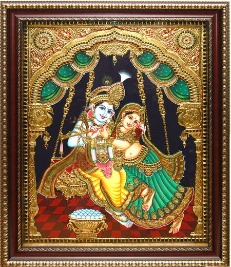 Radha Krishna Tanjore Painting Art Tanjore Paintings Pinterest Krishna Link And Search