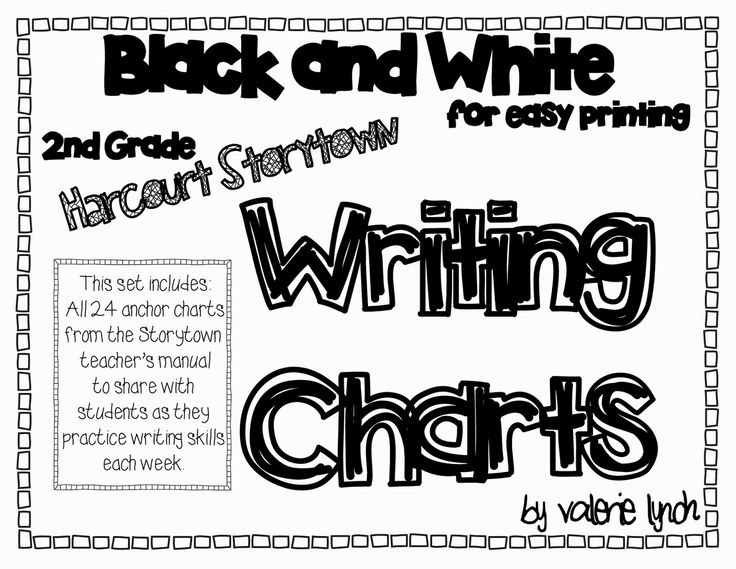 Harcourt Storytown 2nd Grade Writing Anchor Charts FREE