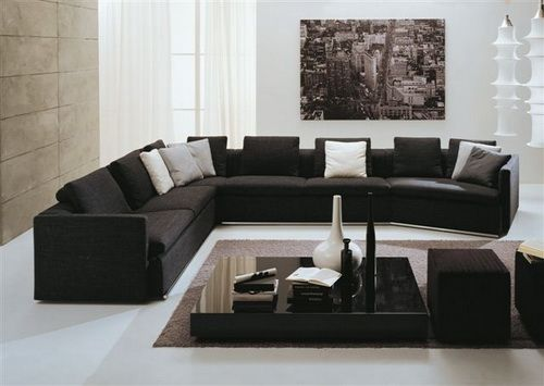 Modern Black Sectional Sofa Large Extra Large Sectional Sofas