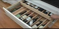 wine drawer insert | Expandable Drawer Organizers for ...