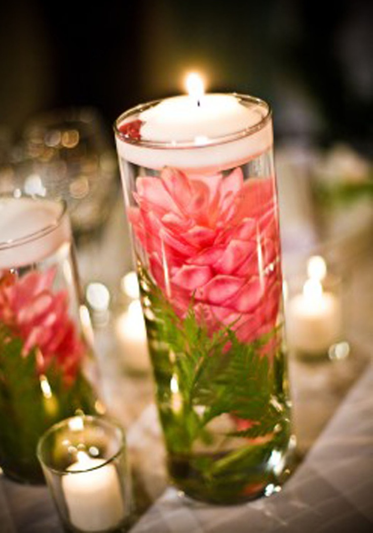 Pink Ginger CenterpiecesBEAUTIFUL  Wedding