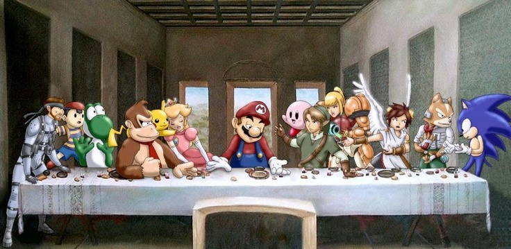 Cute Cartoon Birthday Wallpaper Leonardo Da Vinci The Last Supper At Nintendo N64 Last