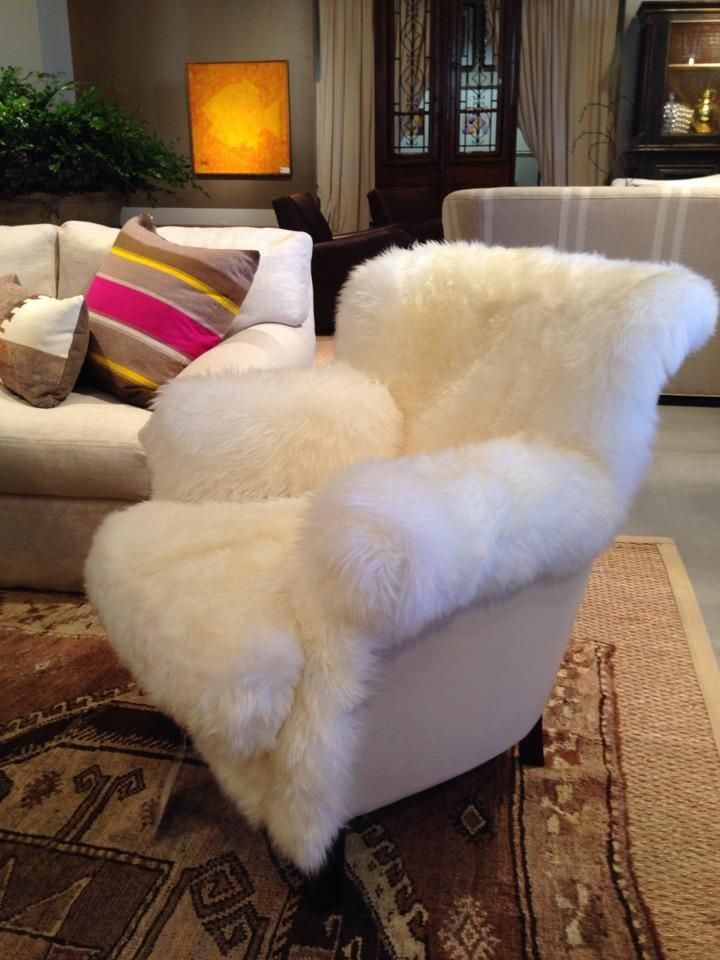 This fuzzy white chair would be a great place to curl up with a book Is this a style you would