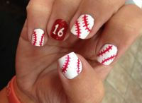 25+ Best Ideas about Baseball Nail Designs on Pinterest ...