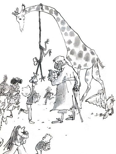 Quentin Blake illustration from The Giraffe the Pelly and