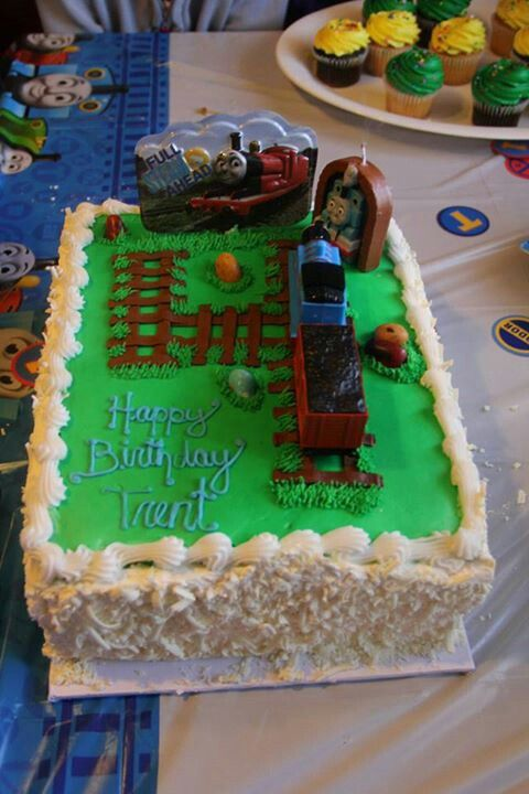 Thomas The Train 4th Birthday Cake Party Ideas