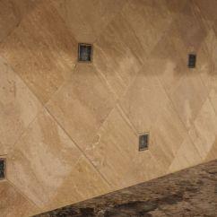 Flooring Kitchen Ideas Cabinet Hinges Coastal #kitchen Remodel With Travertine #tile Backsplash ...