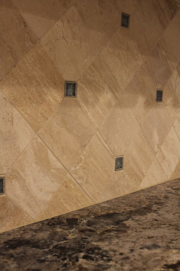 brown kitchen backsplash fluorescent light fixtures home depot coastal #kitchen remodel with travertine #tile ...