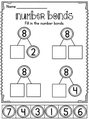 25+ best ideas about Number bonds worksheets on Pinterest