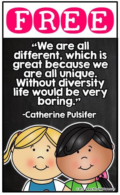 FREE Multicultural Quote Posters & Coloring Sheets Great