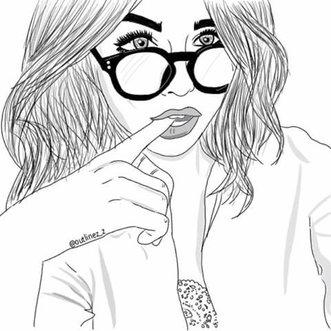 #drawing #draw #outlining #outlines #sketch #girl #